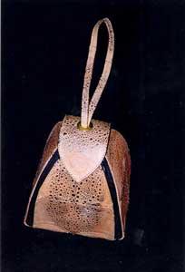 Toad skin tote bag