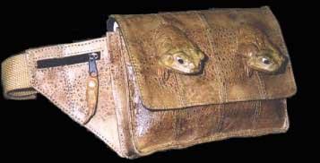 Purse make of toad skin